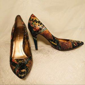 BCBG Generation Multi-colored Croc Textured Heels